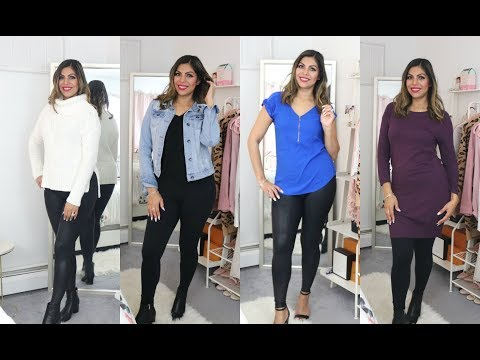 HOW TO STYLE AND ROCK SPANX FAUX LEATHER LEGGINGS VS MATTY M | FABIOLAG