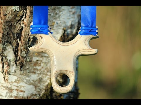 How to make a powerful slingshot using birch plywood - a tut
