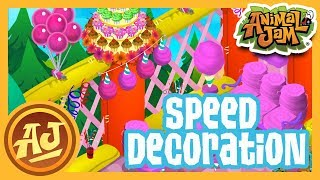 Birthday Den Speed Decoration! |  Animal Jam - 8th Birthday