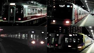 平日夜の堺東駅 南海1000系泉北準急到着や泉北高速12000系「泉北ライナー」通過など