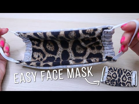 DIY EASY FACE MASK (No Sewing Machine) | Washable And Reusable