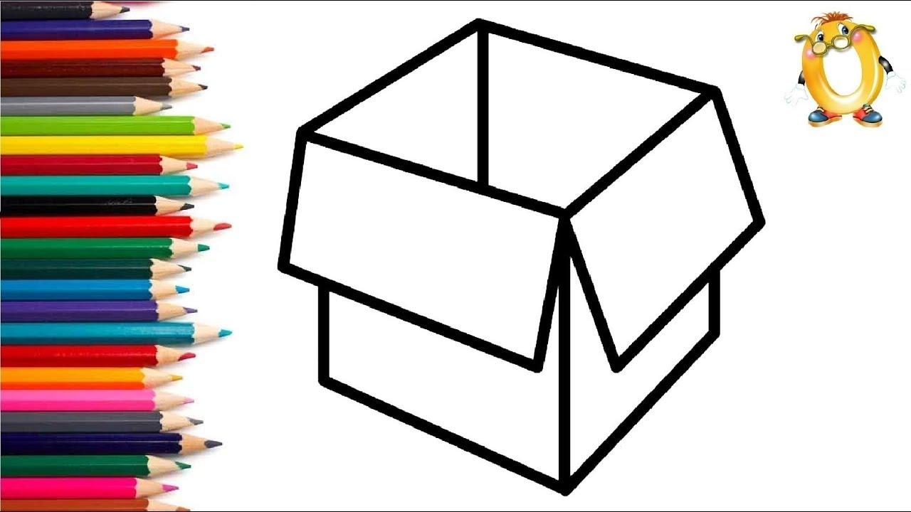 Раскраска для детей КОРОБКА. Мультик - Раскраска. Учим ...