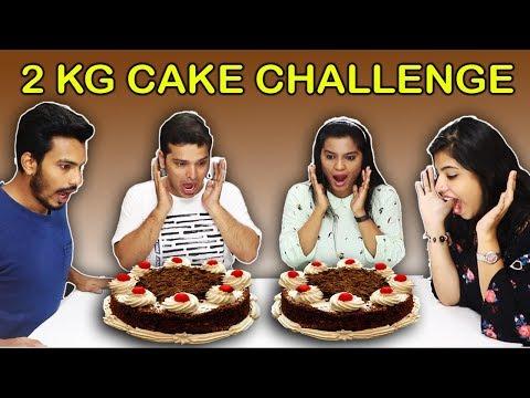 2 KG CAKE EATING CHALLENGE | CAKE EATING COMPETITION | 2 kg केक ईटिंग चॅलेंज