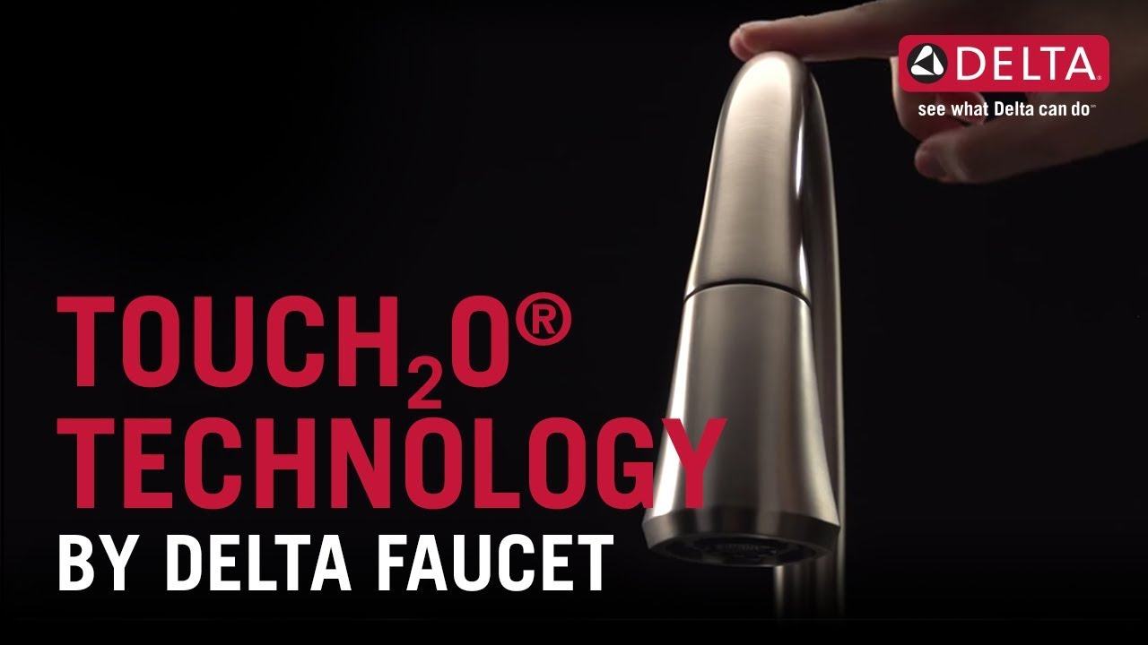 touchless bathroom faucet with delta