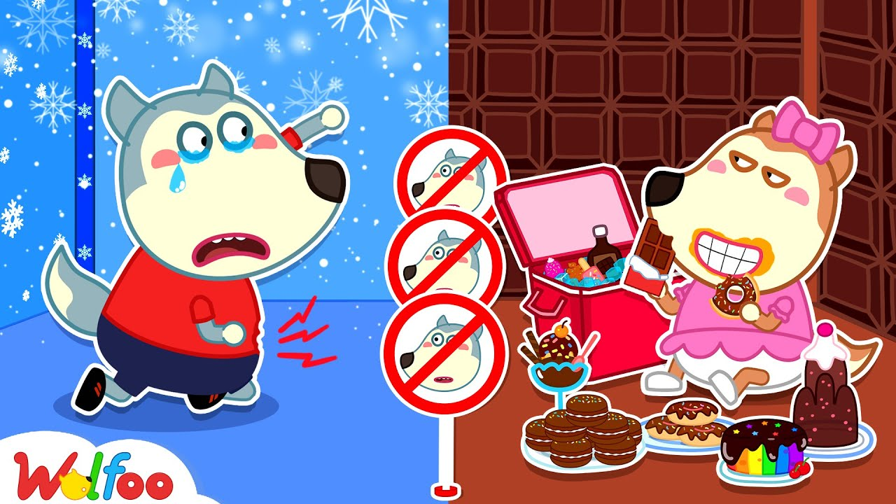Download No No, Lucy! Let's Share Your Chocolate Room with Wolfoo - Learn Kids Good Habits   Wolfoo Channel