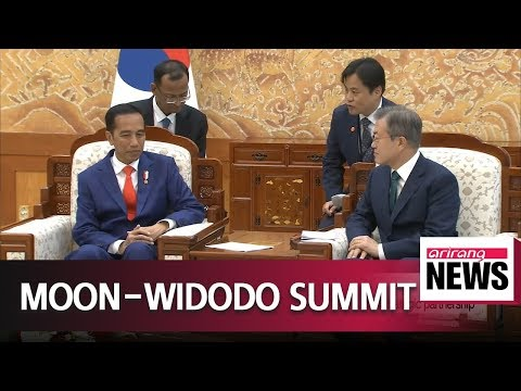 Presidents Moon and Widodo pledge to further boost 'special strategic partnership'