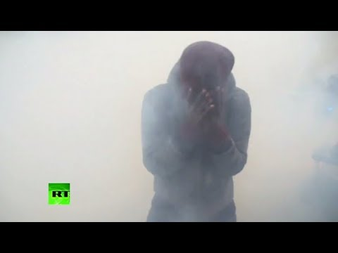 Moment tear gas deployed in Paris on 4th weekend of Yellow Vests protests