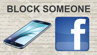 How to block someone on Facebook mobile app