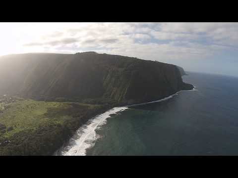 Drone Aerial View of Waipio Valley, Big Island, Hawaii (Control Issues)