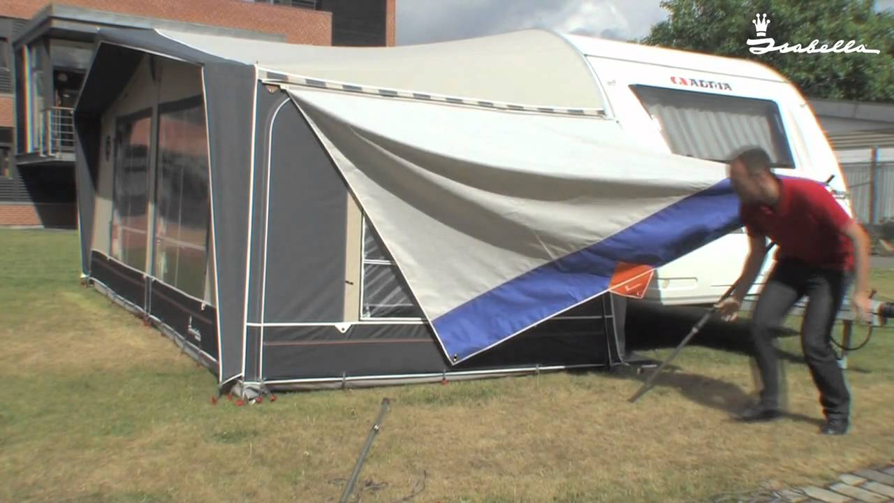 how to assemble isabella sun canopy on awning side youtube
