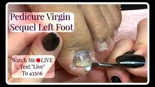 👣Pedicure Tutorial Clients First Pedicure in Salon Pedicure Virgin Left Foot👣