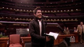 "David Archuleta sings ""Be Still My Soul"" to the Mormon Tabernacle Choir"