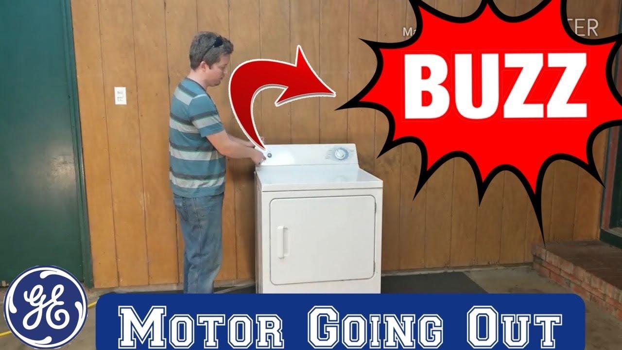 GE dryer not starting making loud buzzing noise testing for bad motor