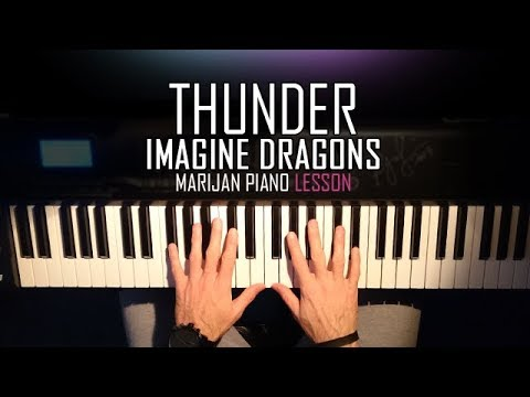 How To Play: Imagine Dragons - Thunder | Piano Tutorial Lesson + Sheets