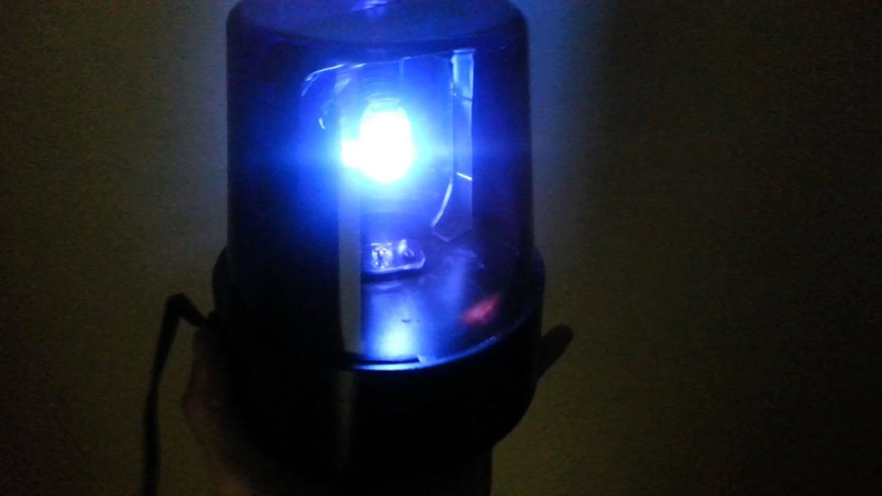 Blue police flashing lights youtube for Lamp light blinking on jvc