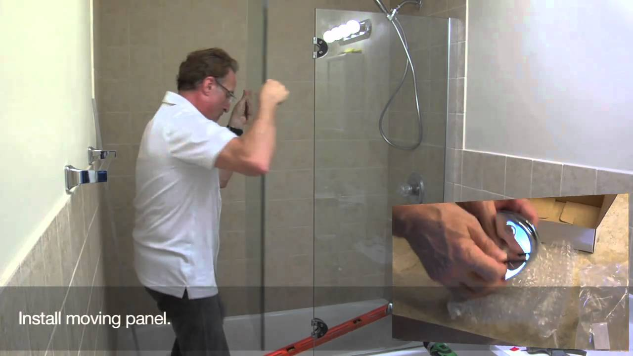 Shower Door Installation #1 - YouTube