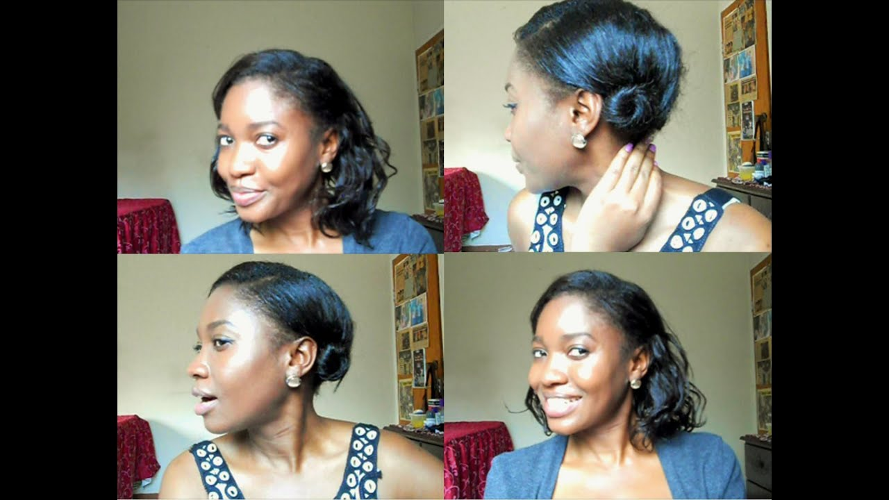 2 quick summer hairstyles for short hair | heatless! - youtube