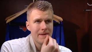 Kristaps Porzingis on RETURN FROM INJURY IN WIN VS MEMPHIS GRIZZLIES + MORE | Postgame | Dec 7