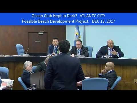 Ocean Club In the Dark. Atlantic City Council DEC 13 2017