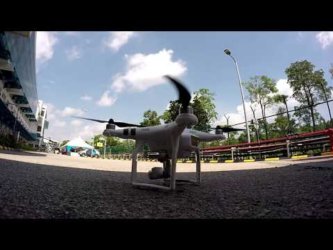 Drone Pilot Test Fly At Kilang ST Muar