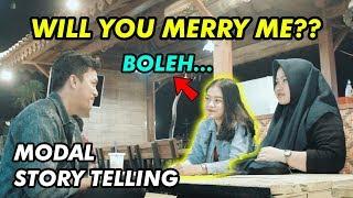GILA!! MODAL STORY TELLING MAU DIAJAK NIKAH - MARRIAGE PROPOSAL TO RANDOM GIRL