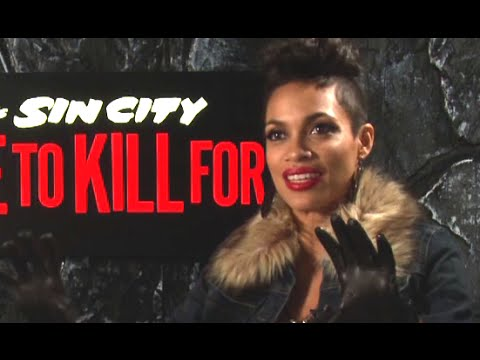 Rosario Dawson Interview - Sin City: A Dame to Kill For (2014) Frank Miller Movie HD