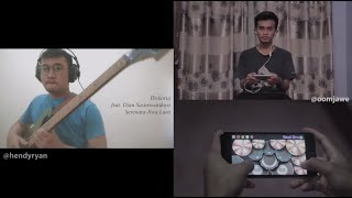Diskoria Feat. Dian Sastrowardoyo - Serenata Jiwa Lara  Bass & Real Drum Cover