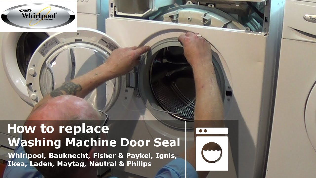 how to replace whirlpool washing machine door seal youtube rh youtube com