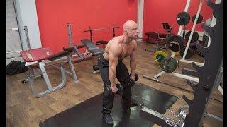 видео Становая тяга на прямых ногах техника