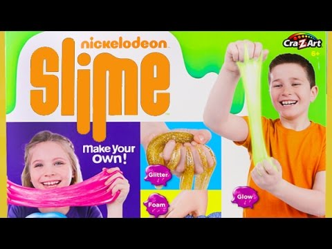 Nickelodeon Slime Super Slimy Set! Glow Slime, Glitter Slime, Scented Slime