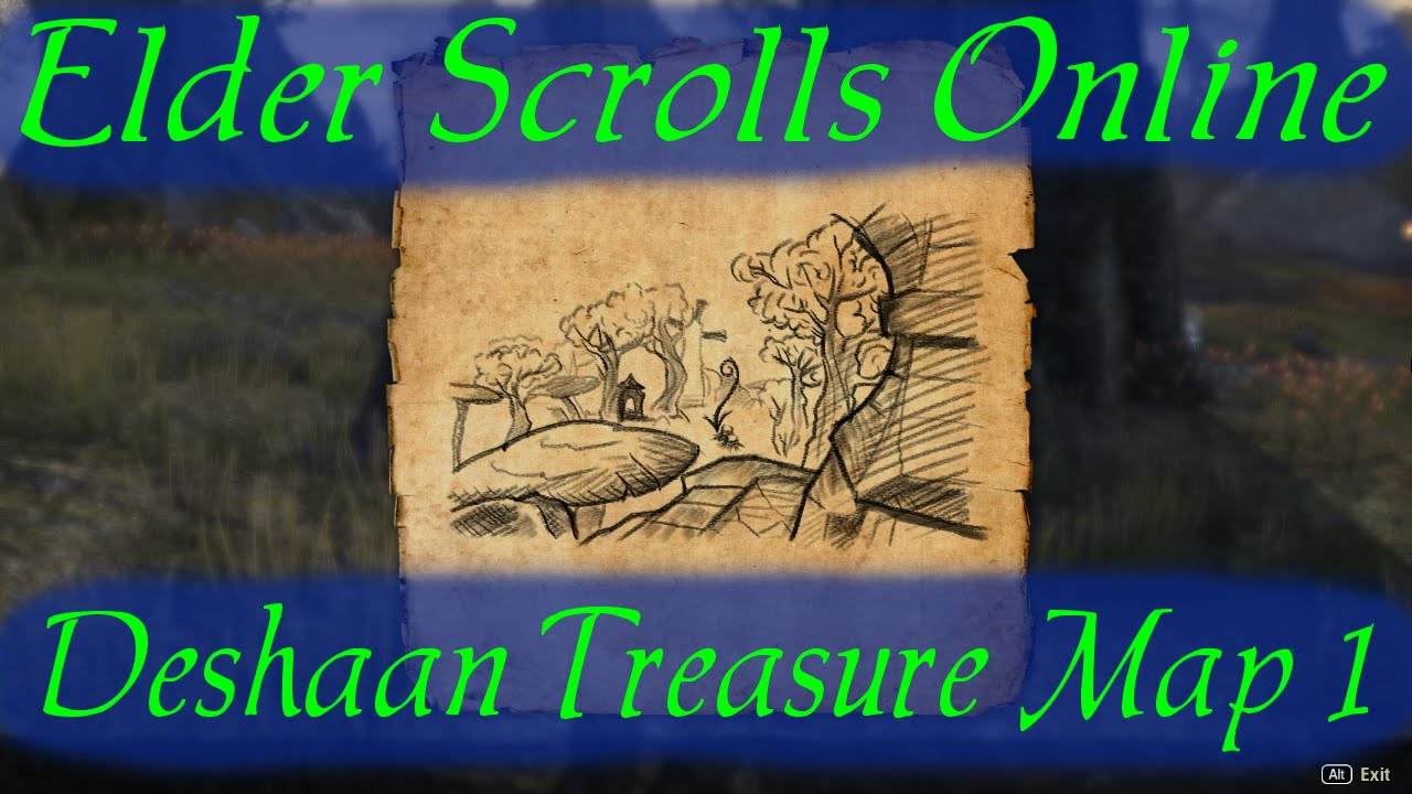 Deshaan Treasure Map 1 [Elder Scrolls Online ESO] on the rift ce treasure map, khenarthi's roost treasure map, stormhaven ce treasure map, bleakrock treasure map, auridon treasure map,