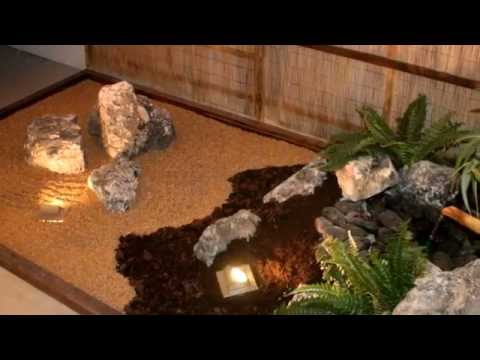 Jardin japones en el interior youtube for Jardines interiores