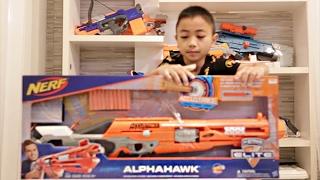 รีวิว NEW ปืนNERF ALPHAHAWK By ZUMO 8-2-17 EP6