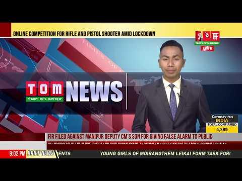 LIVE / TOM TV 9:00 PM MANIPURI NEWS, 6TH APRIL 2020