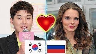 Очень известный актер в Корее смотрит на прекрасных женщин -актрисс  России. 권혁수,
