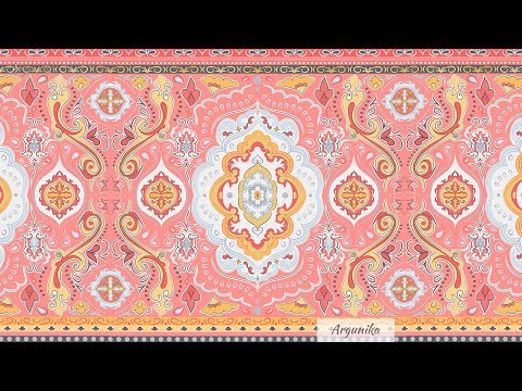 Pink Paisley pattern. Vector. Speedpaint