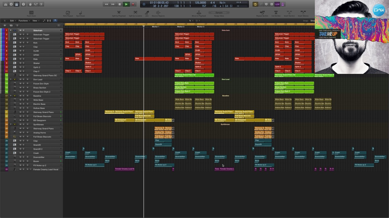 House Logic Pro X Template Take me Up