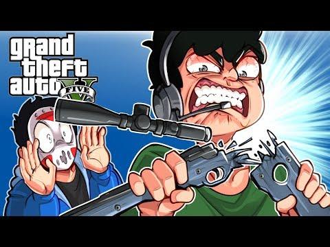 GTA 5 - THIS DEATHRUN ANGERED NOGLA! (Funny Moments)