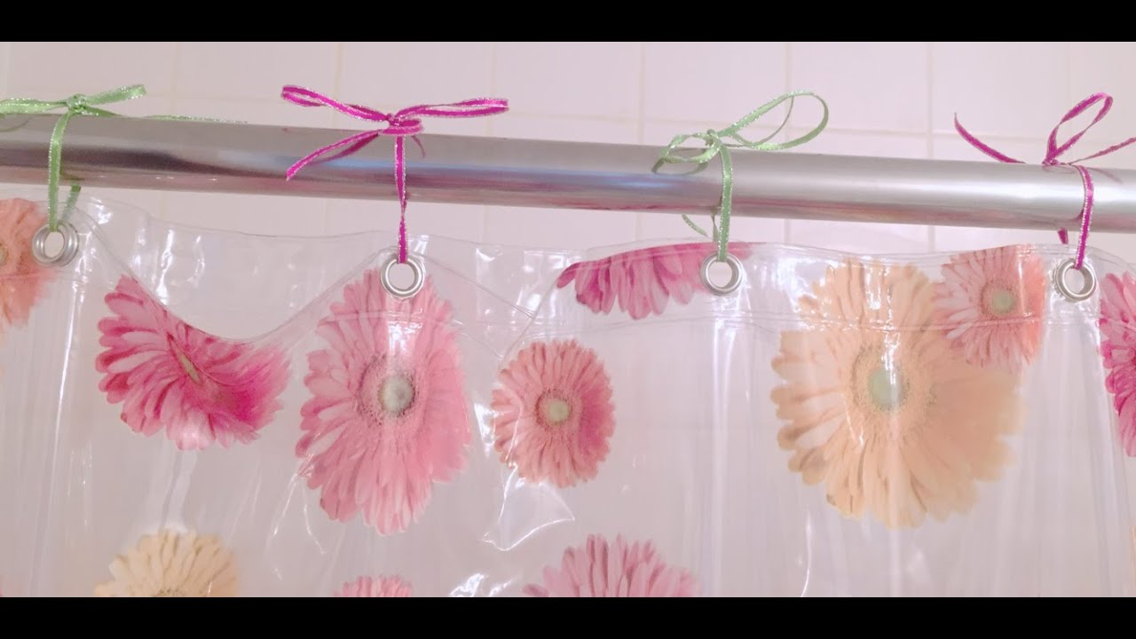 DIY - Cute Alternative To Shower Curtain Rings! - YouTube