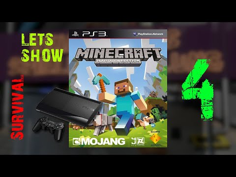 Gameplay : Minecraft : PS3 Edition Survival : Episode 4 : I need new lights on the street