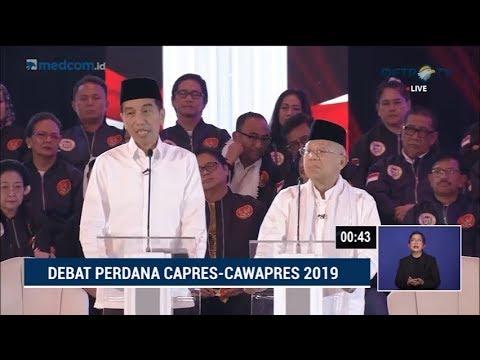 Debat Pilpres 2019 Part 2 - Jokowi Skak Prabowo Soal Penegakan Hukum