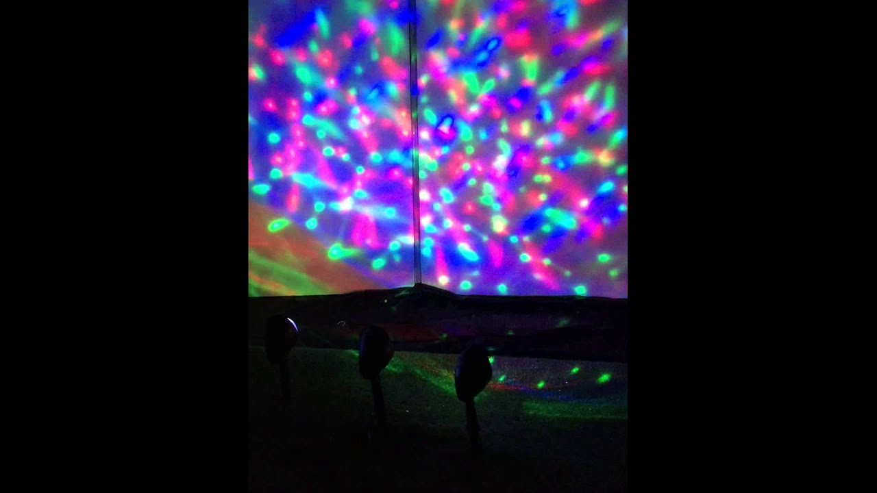 Christmas 3-Piece LED Spotlight - Multicolour - YouTube