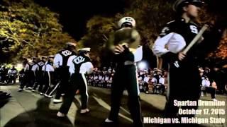 MICHIGAN VS SPARTAN DRUMLINES - Drum Off (2015.10.17)