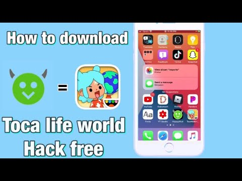 How to download toca life world hack free. (with happy mod) on ios