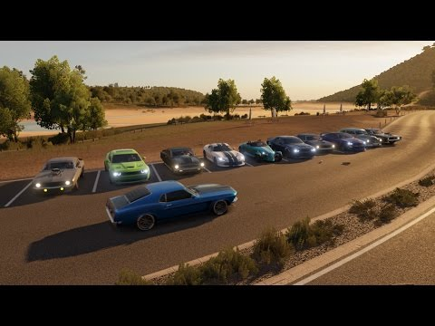 Forza Horizon Muscle Car Show Cruise Roll Racing Drag Racing