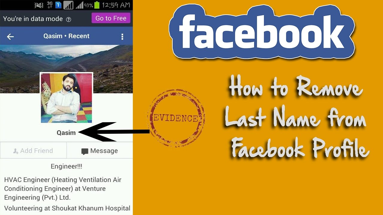 How To Remove Last Name On Facebook Using Android Phones How To Remove Last  Name On