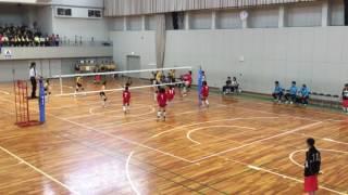 滋賀県中学校女子バレーボール   県大会    近江兄弟社VS彦根東