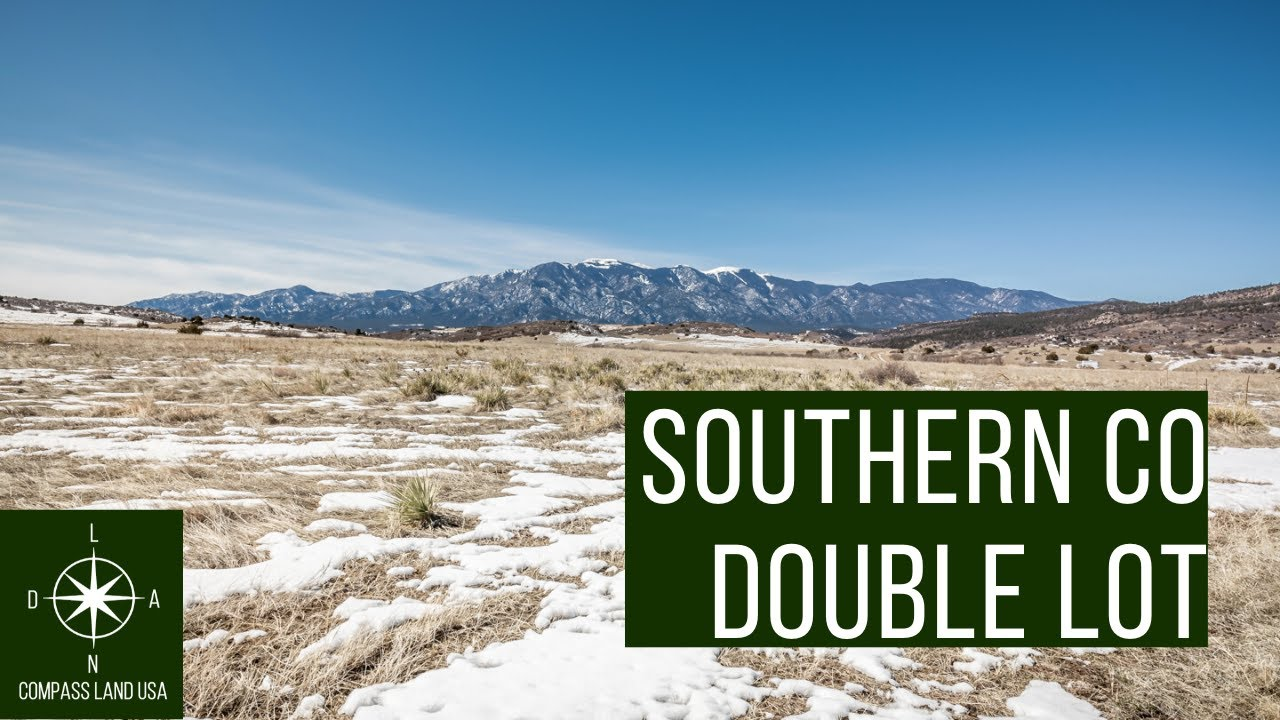 SOLD By Compass Land USA - Southern Colorado Double Lot with Power 500 Feet Away