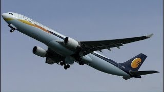 Jet Airways Airbus A330 Heavy Departure at Amsterdam Schiphol