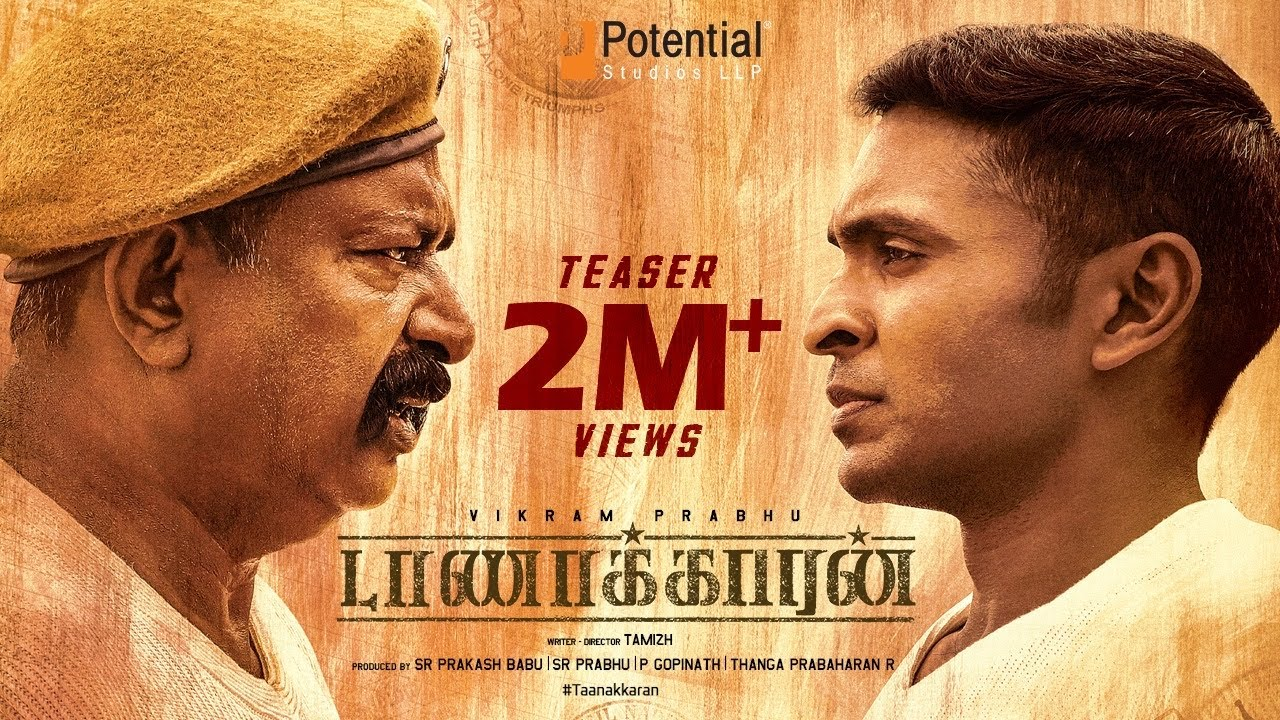 Taanakkaran  - Official Teaser | Vikram Prabhu, Anjali Nair | Ghibran | Tamizh